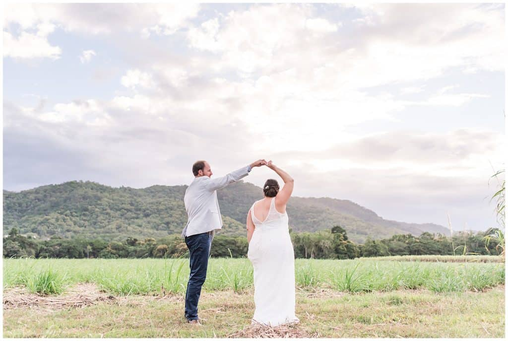 an intimate wedding in little cove port Douglas