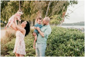 cairns beaches family session by Lizzy Hannaford photography at Clifton beach