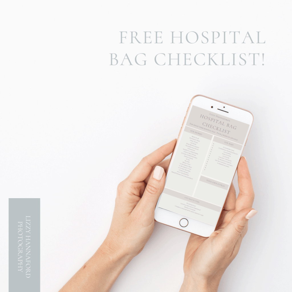 free hospital bag checklist by cairns maternity photographer Lizzy Hannaford Photography