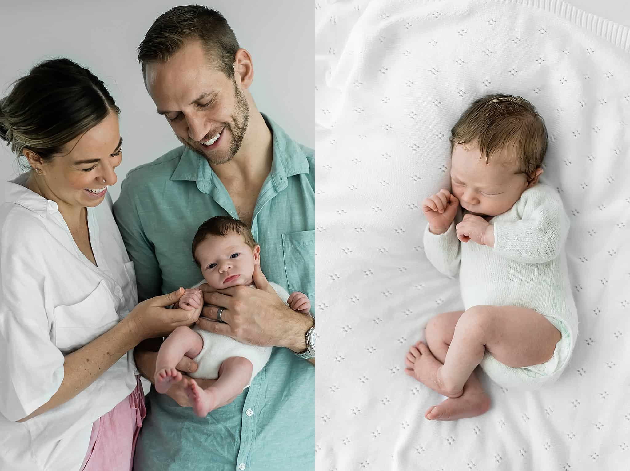 family with newborn baby cairns newborn photographer Lizzy Hannaford Photography