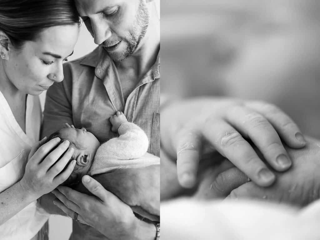 newborn fingers by cairns newborn photographer Lizzy Hannaford Photography