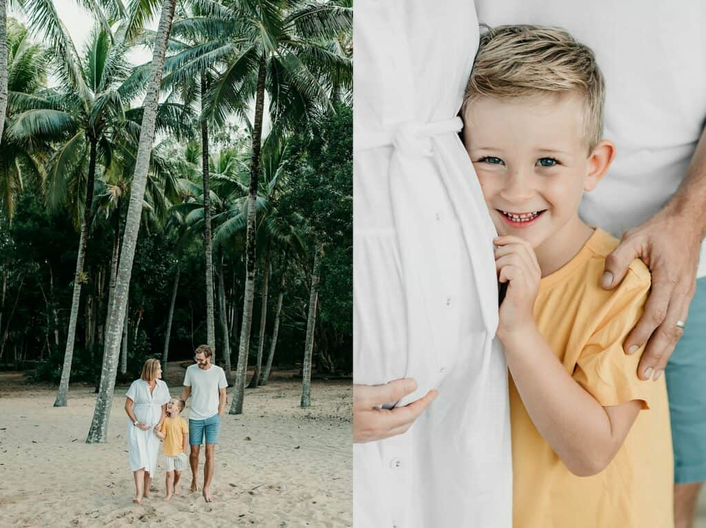 maternity photoshoot on the beach by cairns maternity photographer Lizzy Hannaford Photography