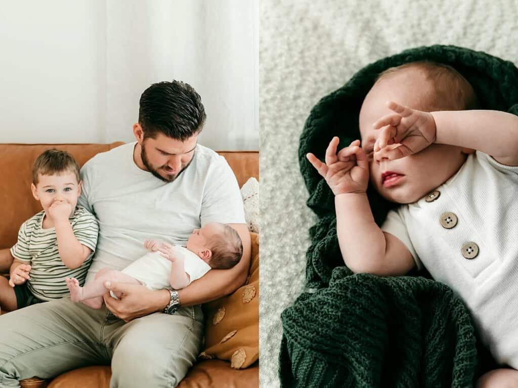 newborn session at home with cairns newborn photographer Lizzy Hannaford Photography
