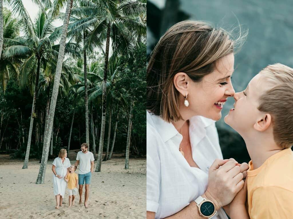 Kewarra Beach maternity photos by cairns maternity photographer Lizzy Hannaford Photography