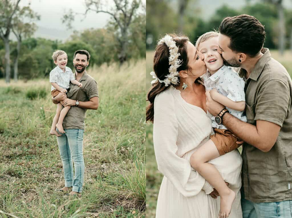 mum dad and son maternity session by family photographer Lizzy Hannaford Photography