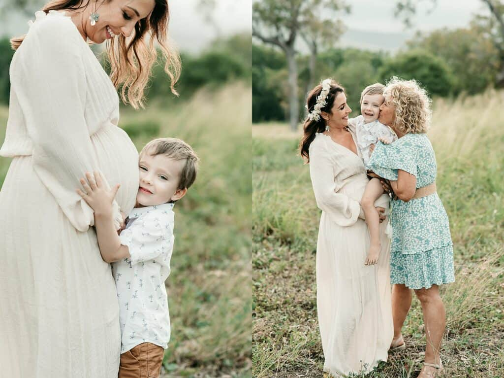 mum son and grandparent photo by cairns family photographer Lizzy Hannaford Photography