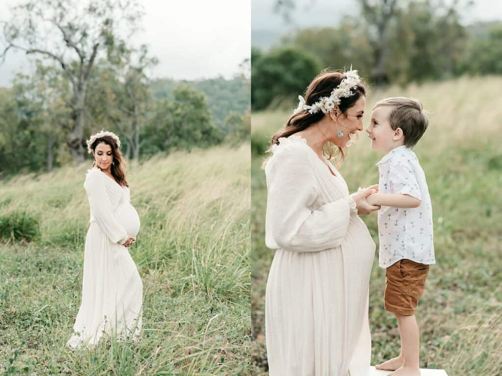 mum and son maternity photo by cairns maternity photographer Lizzy Hannaford Photography