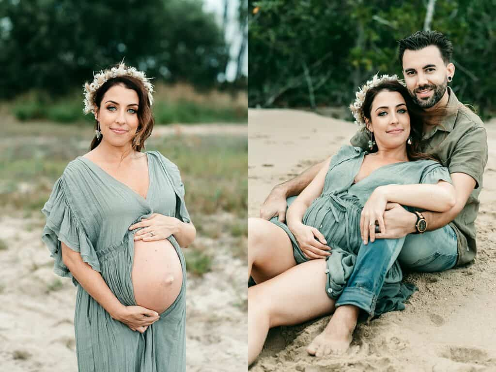 pregnant mum maternity photo by cairns maternity photographer Lizzy Hannaford Photography