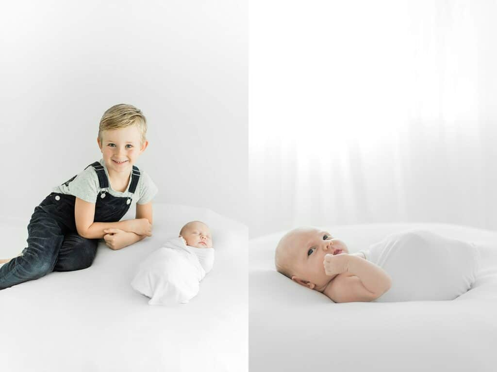 natural sibling photo by cairns newborn photographer Lizzy Hannaford Photography