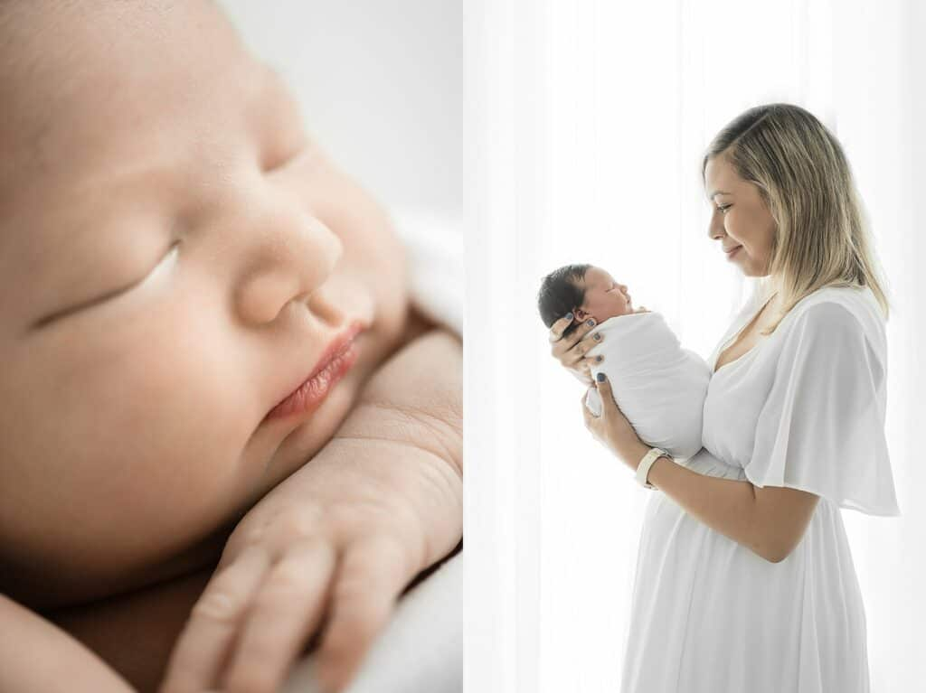 mum and newborn photo by cairns newborn photographer Lizzy Hannaford Photography