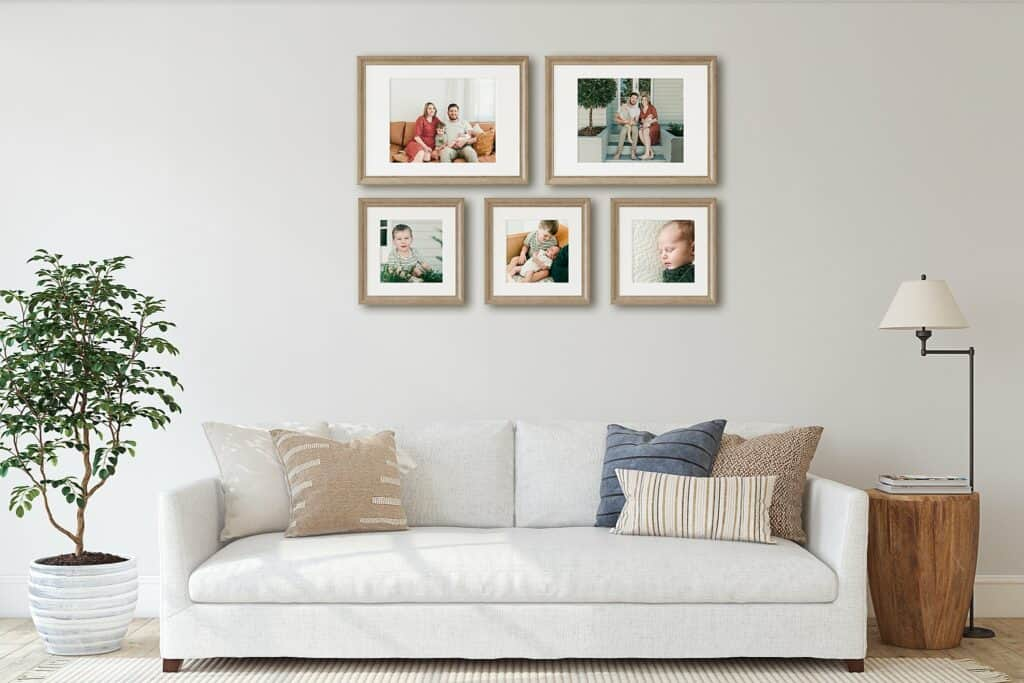 how to frame your family photos by cairns family photographer Lizzy Hannaford Photography