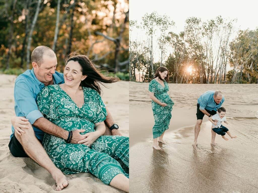 cairns maternity beach photos by cairns maternity photographer Lizzy Hannaford Photography